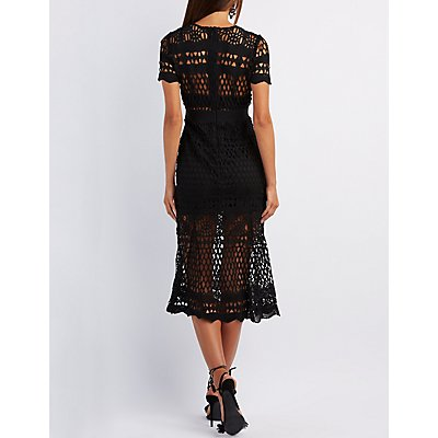 Crochet Bodycon Maxi Dress