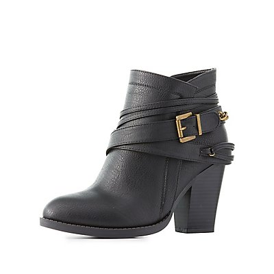 Wrapped Chainlink Ankle Booties
