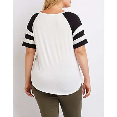 "Plus Size ""Werk"" Football Tee"
