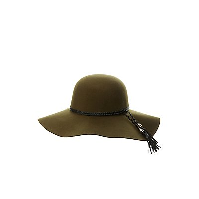Braided Band Felt Floppy Hat