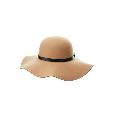 Belted Band Felt Floppy Hat