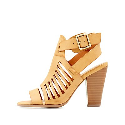 Laser Cut Caged Sandals