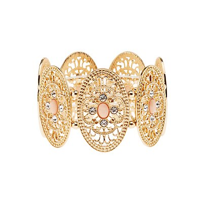 Filigree Stretch Cuff Bracelet