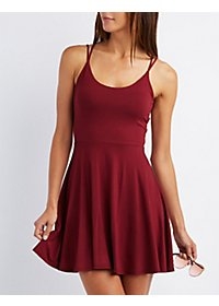 Caged Skater Dress