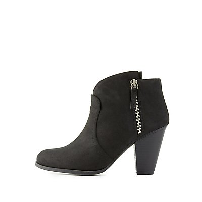 Qupid Pointed Shaft Ankle Booties