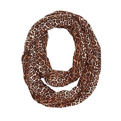 Leopard Infinity Scarf