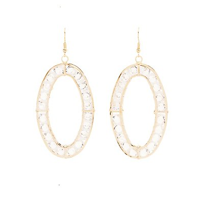 Floating Crystal Hoop Earrings