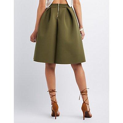Pleated Full Midi Skirt
