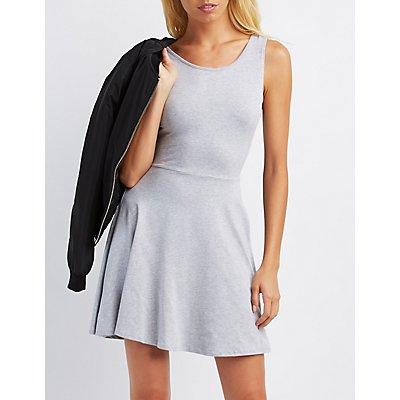 Open Back Skater Dress