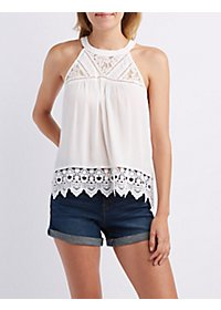 Lace & Crochet-Trim Swing Top