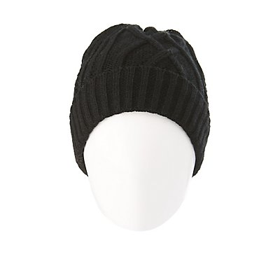 Faux Fur-Lined Knit Beanie