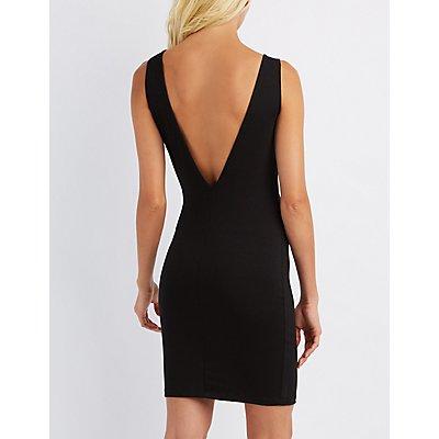V-Back Bodycon Dress