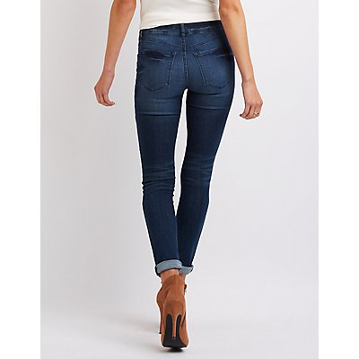 "Refuge ""Skin Tight Legging"" Destroyed Jeans"