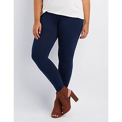 Plus Size Stretch Cotton Leggings