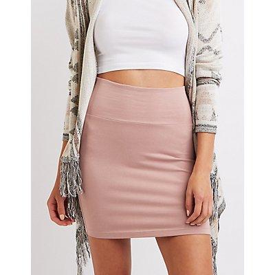 High-Waisted Bodycon Mini Skirt