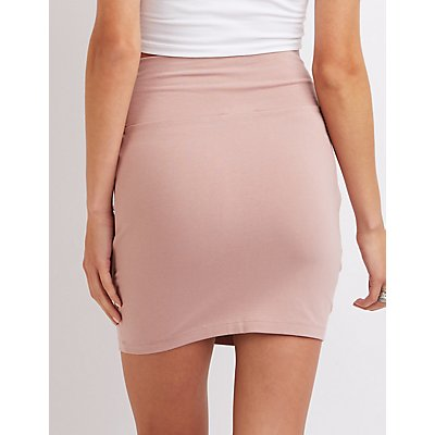 High-Waisted Bodycon Mini Skirt