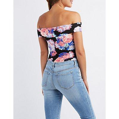Floral Off-The-Shoulder Bodysuit