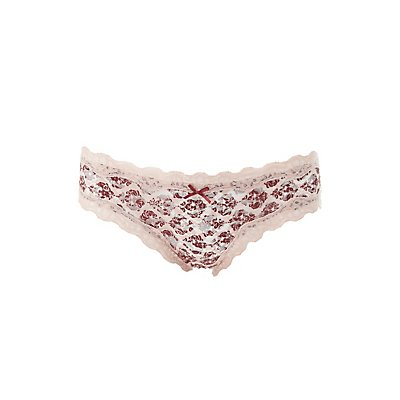 Printed Lace Hipster Panties