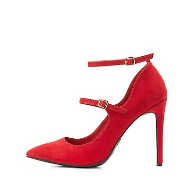 Double Strap Mary Jane Pumps