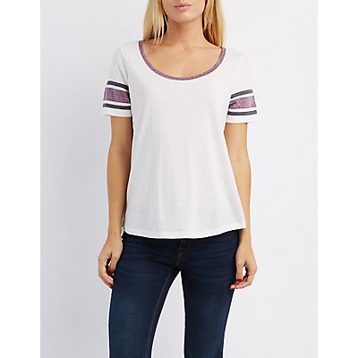 Scoop Neck Ringer Tee