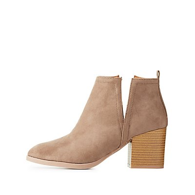 Pointed Toe Cut-Out Ankle Booties