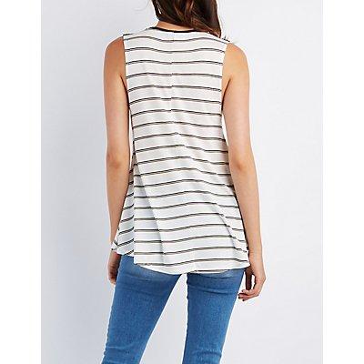 Striped Swing Tunic Top