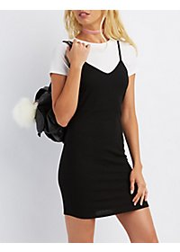 Ribbed Layered Dress