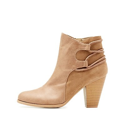 Qupid Strappy Ankle Booties