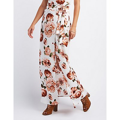 Floral Wrapped Maxi Skirt