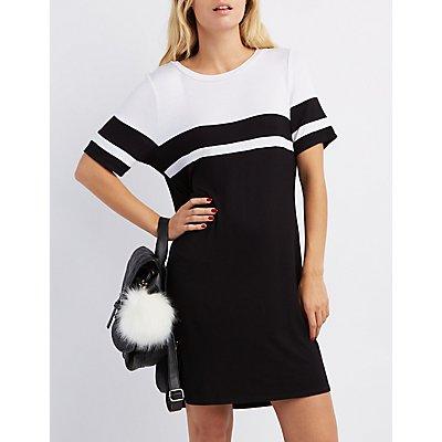 Football Stripe T-Shirt Dress
