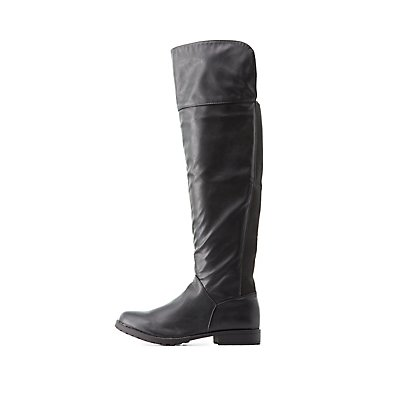 Bamboo Gored Over-the-Knee Boots