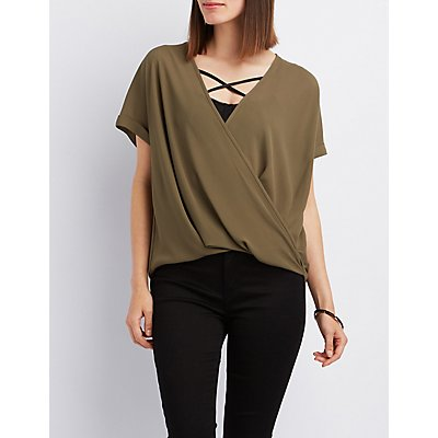 Wrap Surplice Blouse