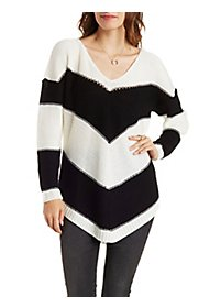 Chevron Stripe Pullover Sweater
