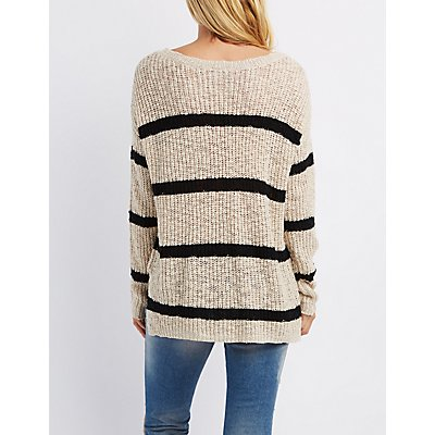 Scoop Neck Pocket Sweater