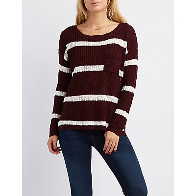 Scoop Neck Pocket Sweater
