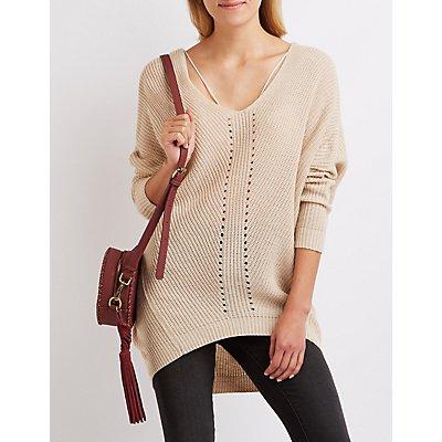 Shaker Stitch Oversized Sweater