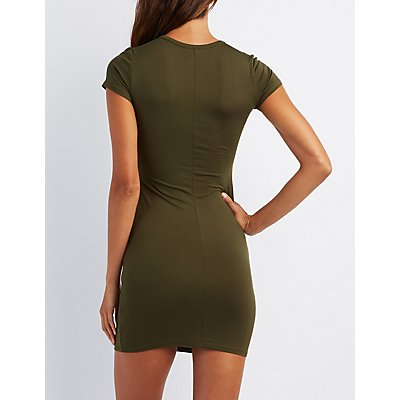 Knot Waist Bodycon Dress