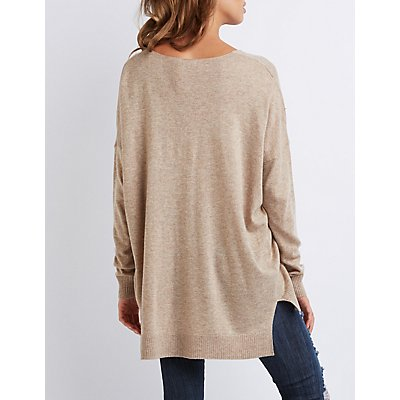 Oversized Drop Shoulder Sweater
