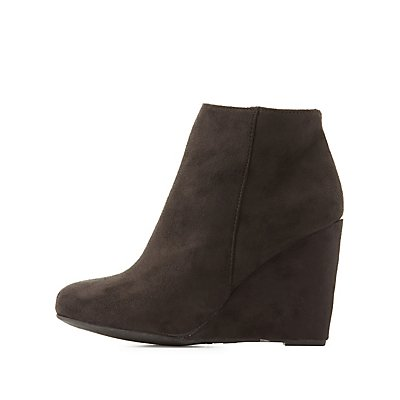 Bamboo Wedge Ankle Booties