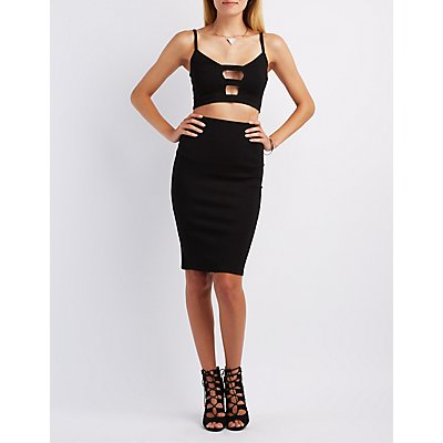 Caged Crop Top & Pencil Skirt Hook-Up