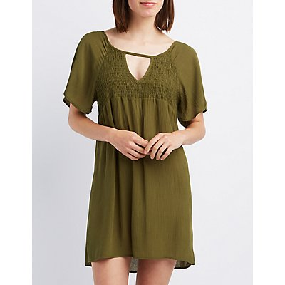 Smocked Shift Dress