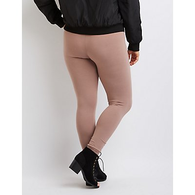 Plus Size Stretch Cotton Leggings