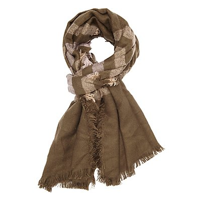 Fringed Striped Scarf
