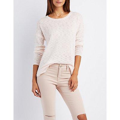 Tie-Back Drop Shoulder Sweater