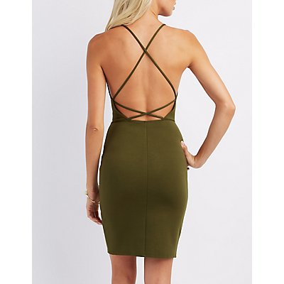 Caged-Back Bodycon Dress