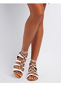 Bamboo Lace-Up Gladiator Sandals