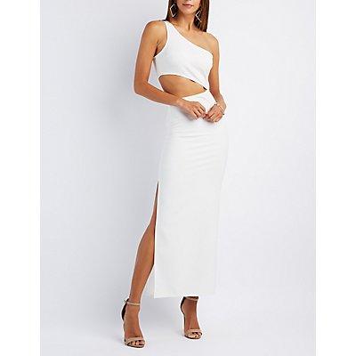 One-Shoulder Cut-Out Maxi Dress