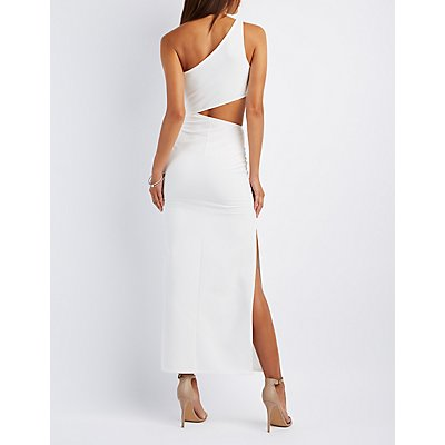 One-Shoulder Cut-Out Maxi Dress