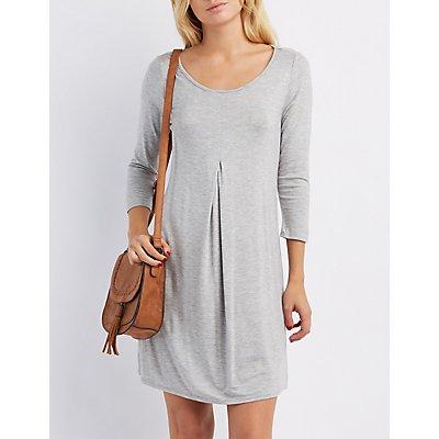 Pleated Swing Dress