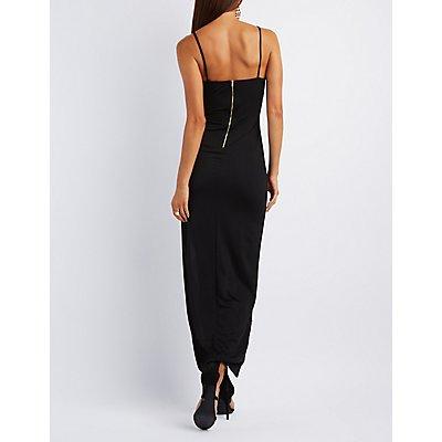 Asymmetrical Cut-Out Maxi Dress